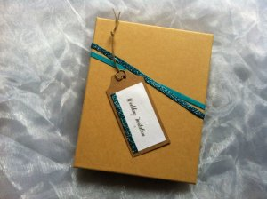 Turquoise Accent Boxed Invitation