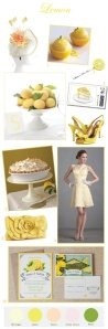 Give your wedding some zest appeal with lemon inspiration