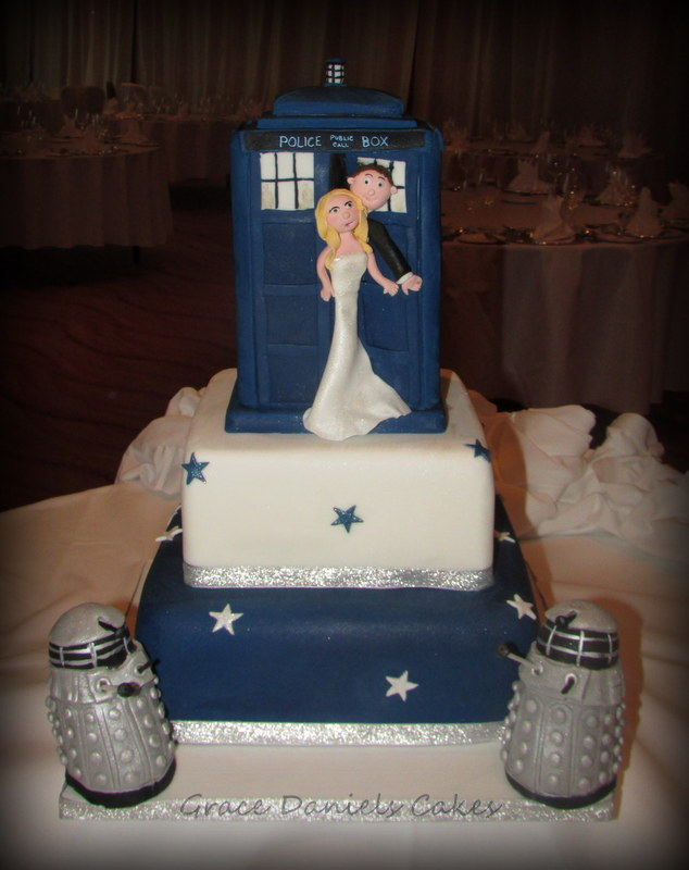 Dr Who Tardis Wedding Cake True Romance Weddings