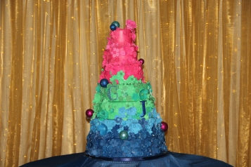 Grace's own wedding cake, which she made herself in the days before her wedding!
