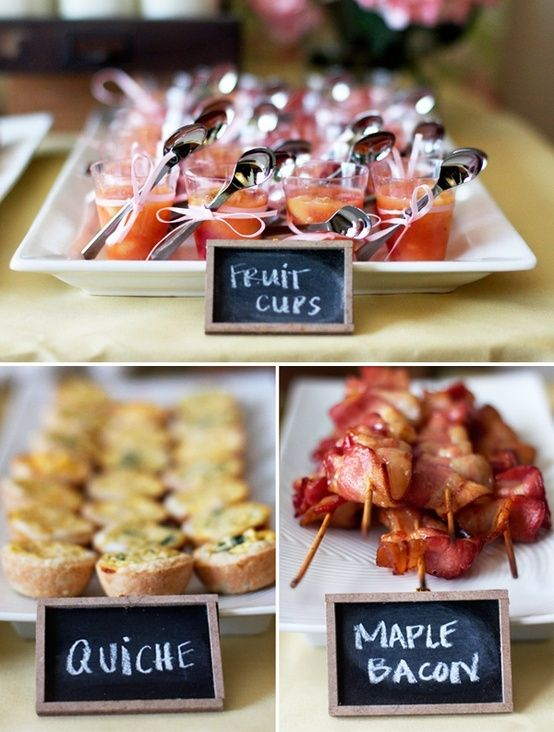 Brunch wedding food ideas