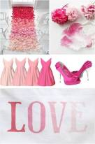 Pink ombre wedding