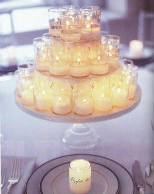 Tiered candle centrepiece
