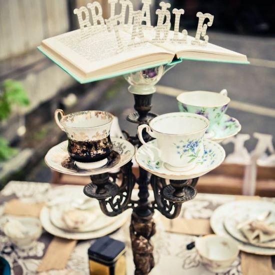 Vintage Teacup Candelabra