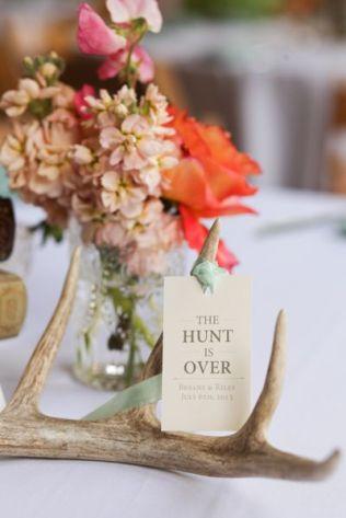 Deer Antlers wedding centrepiece