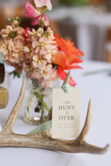 Deer Antlers wedding centrepiece