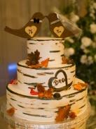 Tree inspired wedding cake autumn