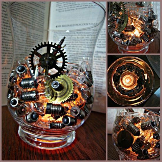 SteaSteampunk wedding centrepiecempunk wedding decor