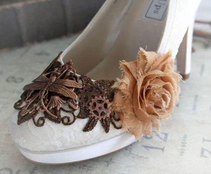 Steampunk wedding shoes