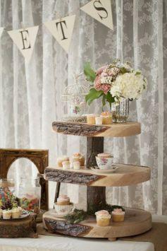 Woodland wedding cake stand vintage