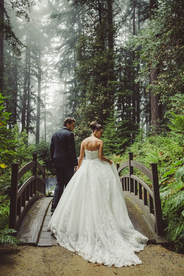 Woodland wedding photography