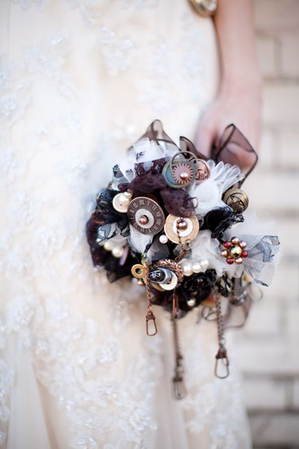 Steampunk wedding flowers