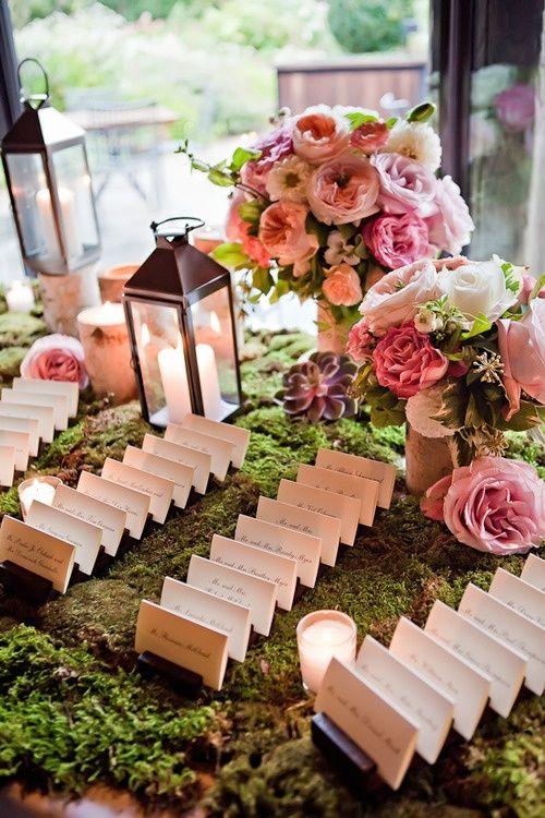 Woodland Wedding escort cards