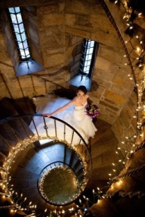 Dramatic wedding venues Halloween theme