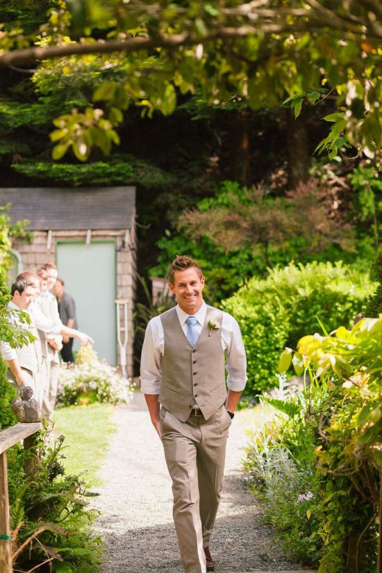 John Varvatos menswear outdoor wedding look