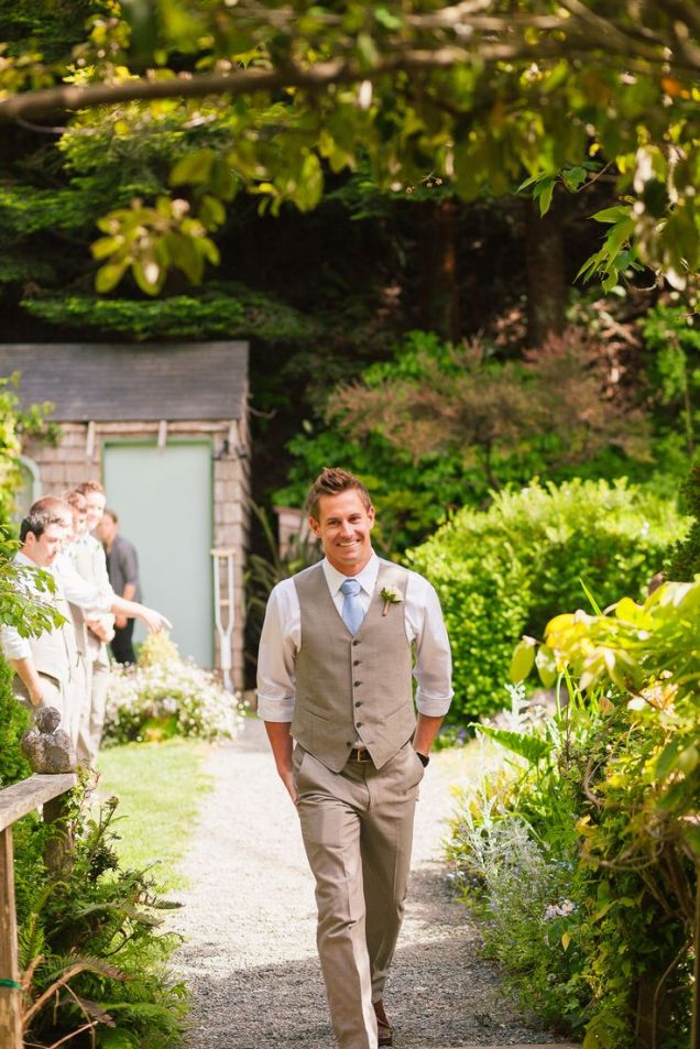 John Varvatos menswear outdoor wedding look