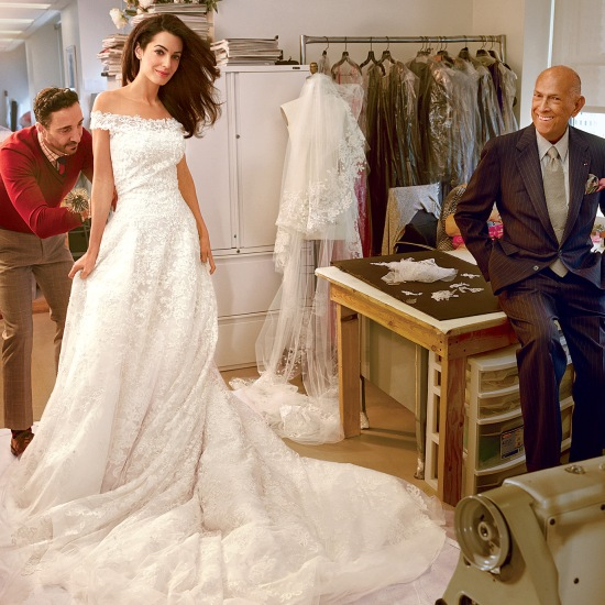 Amal Alamuddin wedding dress oscar de la renta
