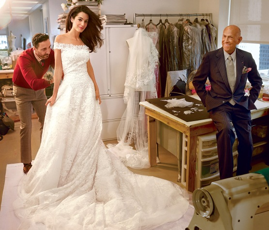 Amal Alamuddin wedding dress oscar de la renta