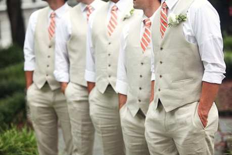 Outdoor wedding menswear look