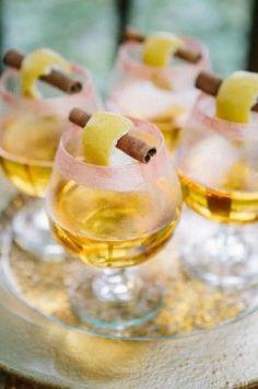 Hot whiskey wedding cocktail