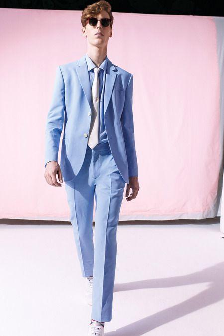 Marc Jacobs powder blue suit