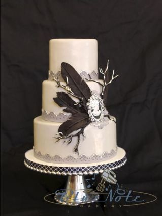 Edgar Allen Poe inspired wedding cake