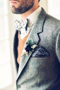 Tweed grooms look