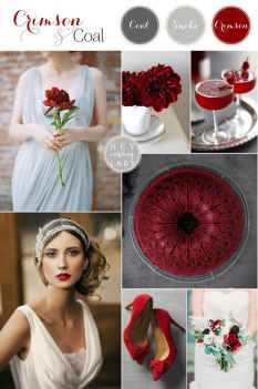 Berry winter wedding colour scheme