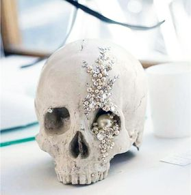 Crystal Skull Halloween wedding theme
