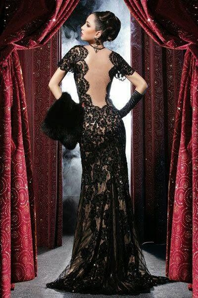 Black Lace Wedding Dress True Romance Weddings