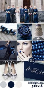 Navy and silver winter wedding colour scheme