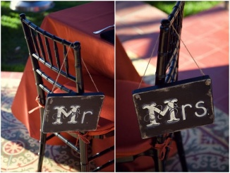 Black Mr and Mrs signs