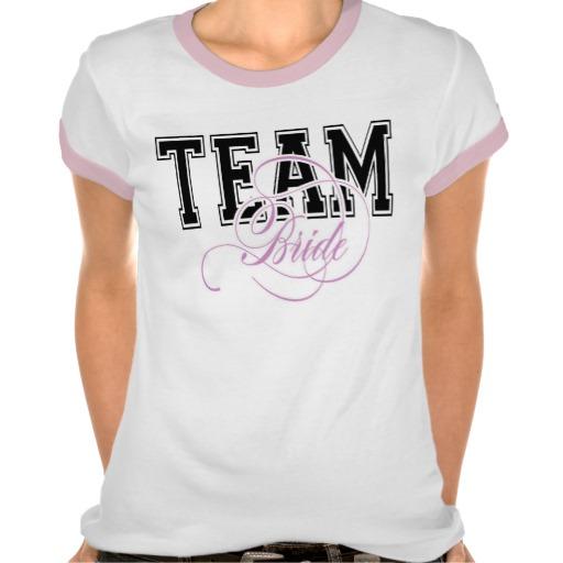 Team bride t-shirt for hen party zazzle.co.uk