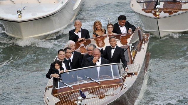 George Clooney wedding Amal Alamuddin Venice