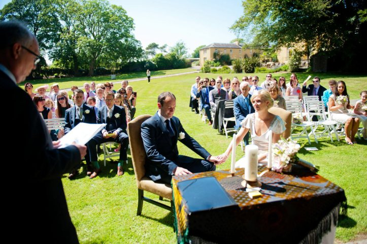 Weddings by Kara outdoor wedding ceremony Ballinacurra House