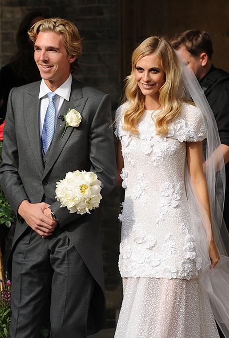 Poppy Delevigne wedding dress Chanel