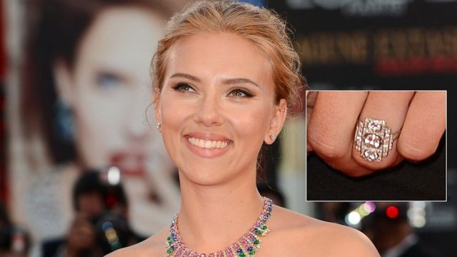 Scarlett Johannson engagement ring