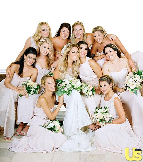 Lauren Conrad wedding bridesmaids