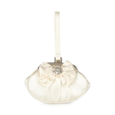 Cream Diamante trim opera bag wedding accessories