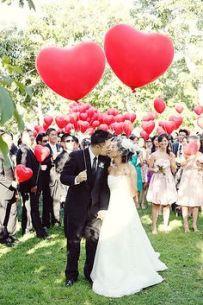 Valentine's Wedding Inspiration Red balloons