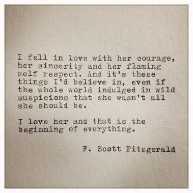 Famous Love Quotes F Scott Fitzgerald