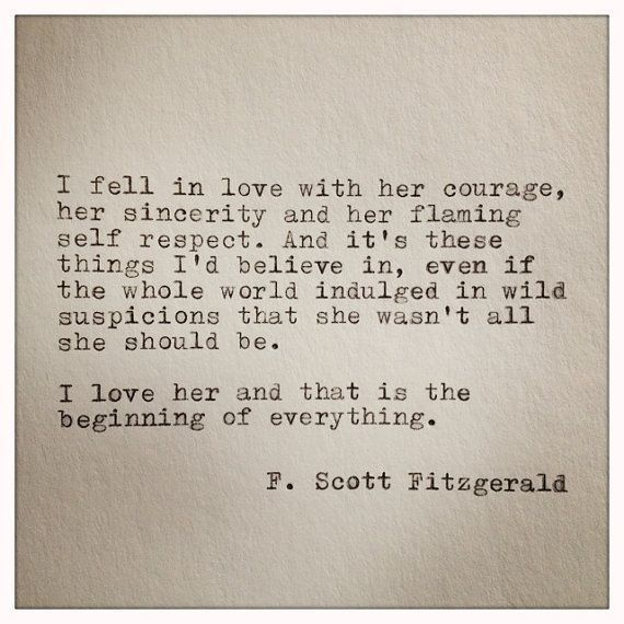Famous Love Quotes F Scott Fitzgerald True Romance Weddings