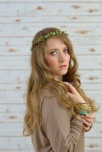 Berry garland hair wedding accessory paradise shore etsy