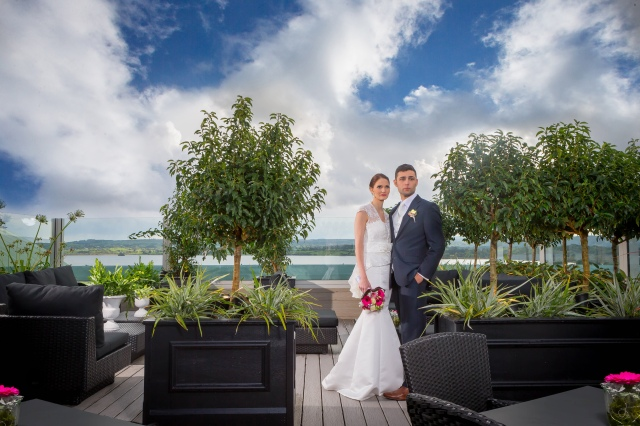 Loughrea Hotel & Spa rooftop garden wedding