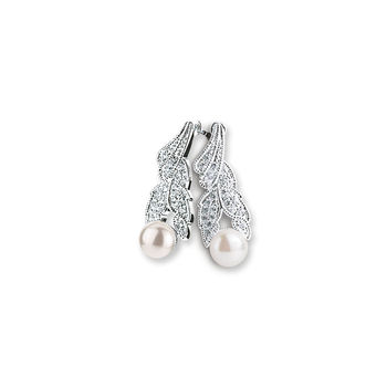 Newbridge Grace Kelly drop earrings bridal