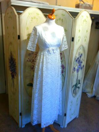 Vintage Pearl Bridal Galway Michelle Burke vintage dress