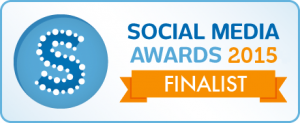 Social Media Awards sockies 2015 finalist badge