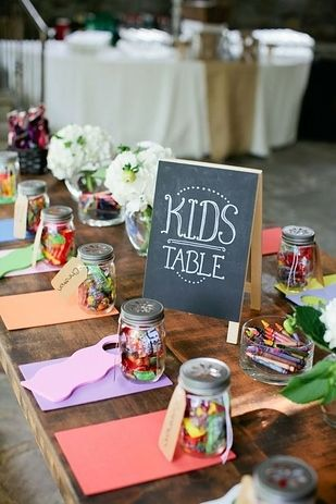 kids ideas for wedding kids table