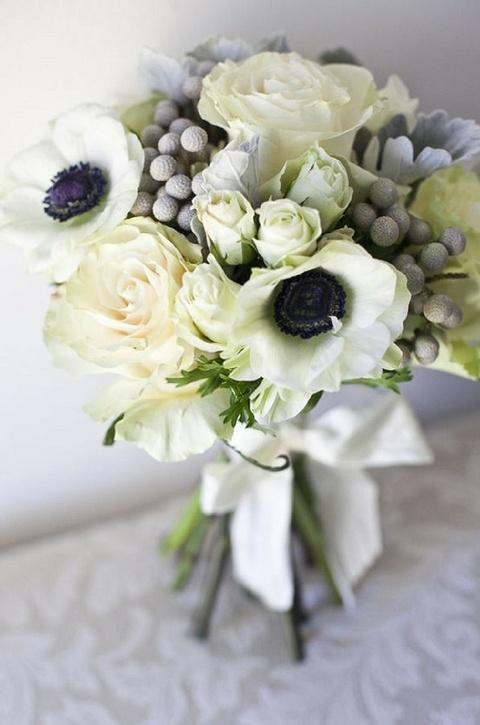 Monochrome Wedding Ideas Black And White Flowers