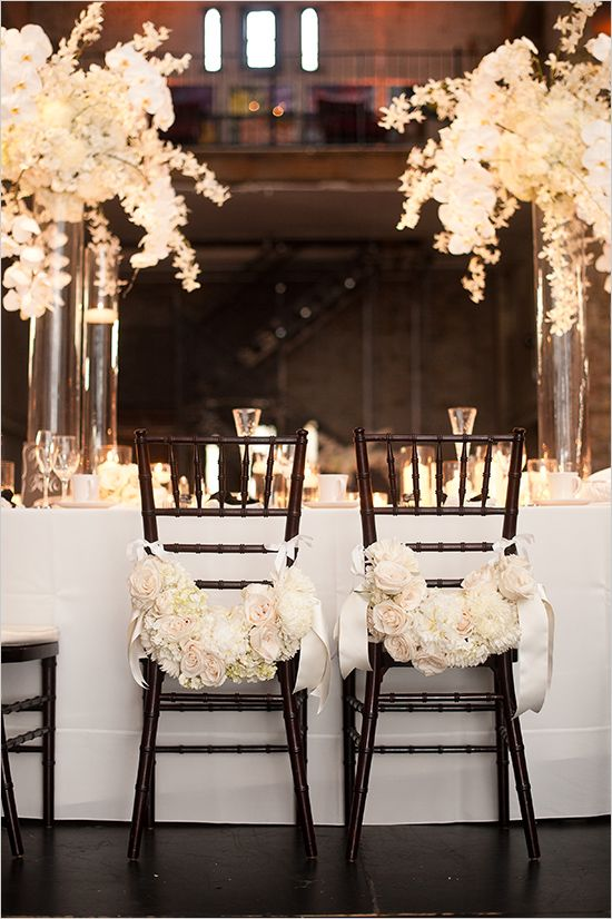 Monochrome wedding ideas table decor black and white black for Table and chair decorations for weddings